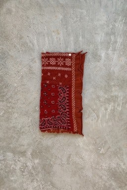 Kapital Compressed Wool Scarf Patchwork Red