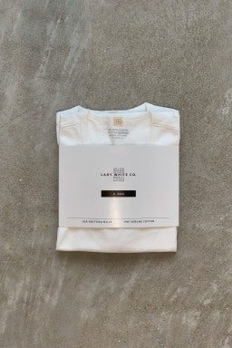 "Lady White Co. Two Pack T-Shirts ""Our White"" Cotton"