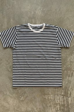Nanamica Coolmax Striped Jersey Tee Navy & White
