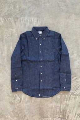 Orslow Button Down Shirt 80 Rigid Denim