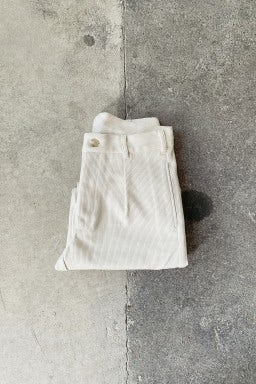 Whim Shashiko Trouser Cream