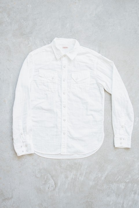 Kapital Double Gauze Western Shirt White