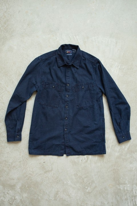 Blue Blue Japan LS Big Pocket Shirt 50 Indigo