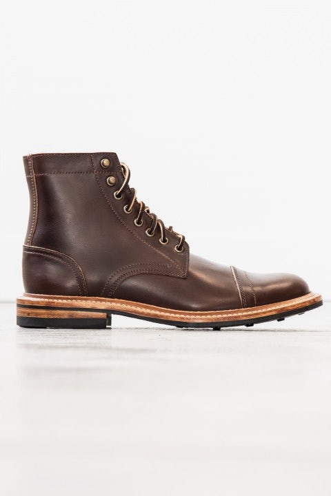 Oak Street Bootmakers Cap-Toe Trench Boot Brown Chromexcel
