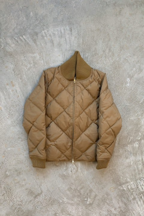 Crescent Down Works Diagonal Quilted Down Cold Weather Bomber Tan/Khaki