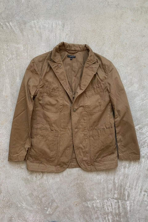Engineered Garments Bedford Jacket  Brown Cotton Herringbone Twill