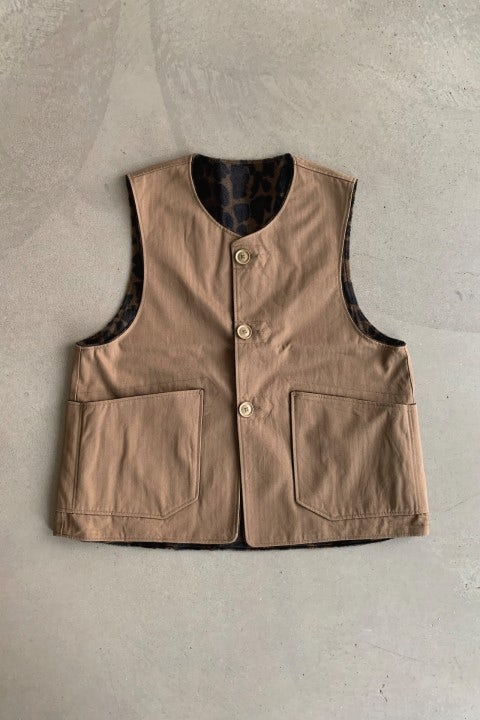 Engineered Garments Over Vest Brown Herringbone