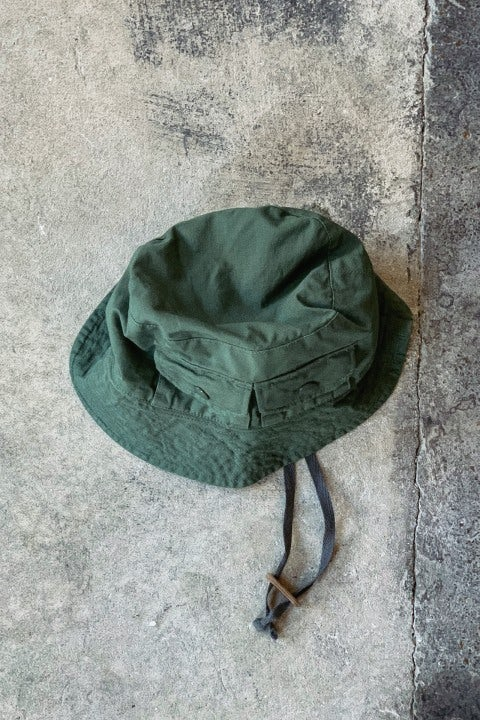 Engineered Garments Explorer Hat Olive Cotton Ripstop
