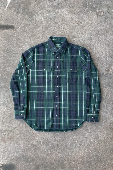 Gitman Bros. Vintage Two Pocket Flannel Blackwatch Triple Yarn