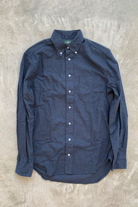 Gitman Bros. Vintage Long Sleeve Button Down  Navy Flannel