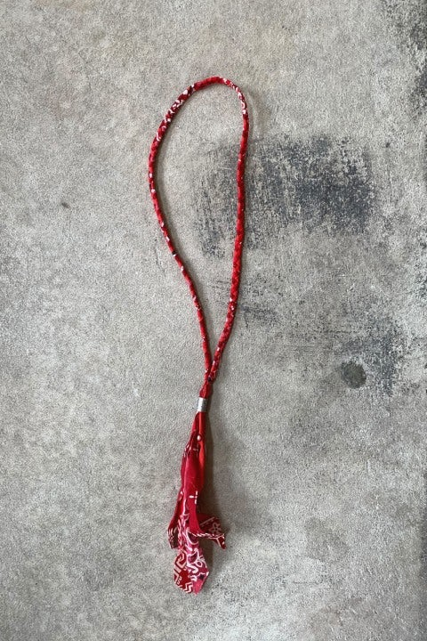 Kapital Gauze Bandana Fringed Necklace Red