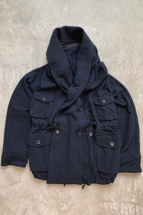 Kapital Vintage Melton Wool RIng Coat Navy