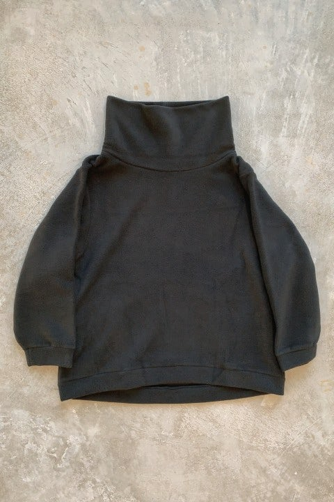Kapital  Reverse Fleece BIG High Neck Sweat Shirt Black
