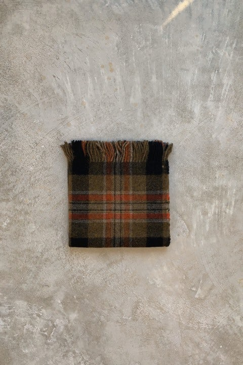 Kapital Country Wool Check Fringed Origami Poncho Grey & Khaki
