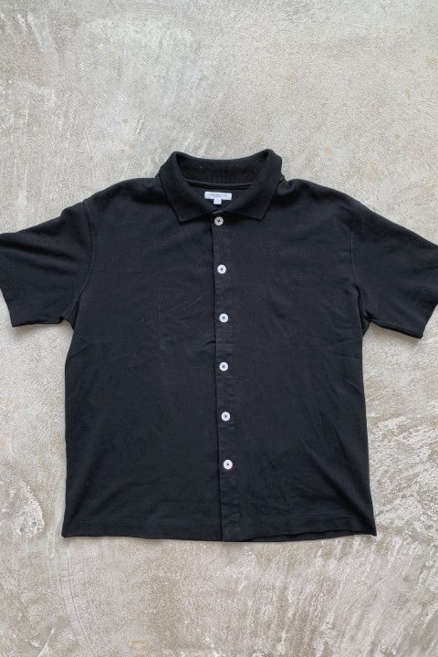 Lady White Co. SS Placket Polo Black