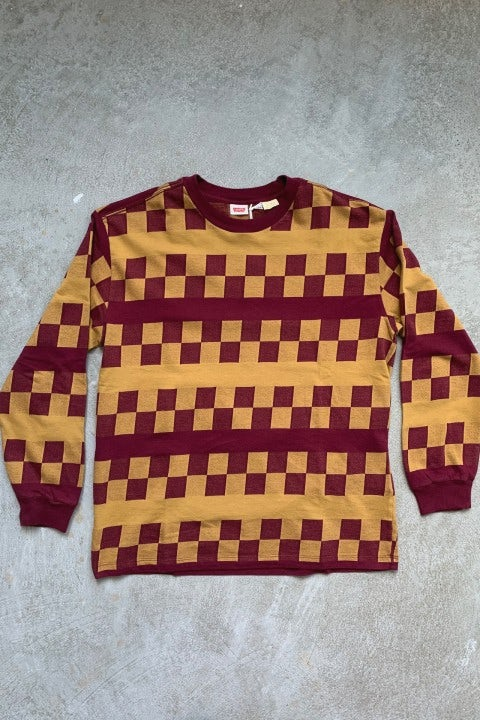 Levi's 1980's Sweatshirt Oxblood Checker
