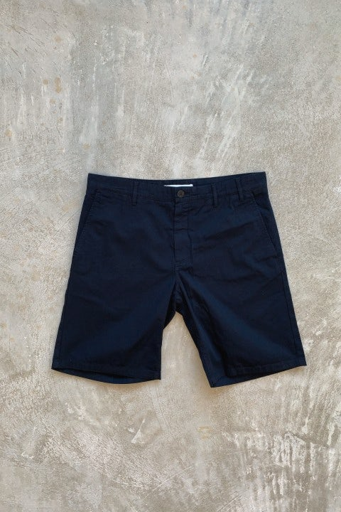 Norse Projects Aros Light Twill Shorts Dark Navy