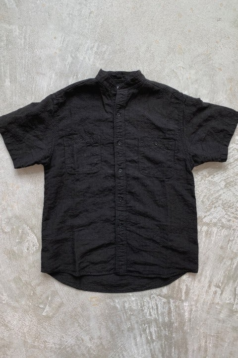 Orslow Standard Collar Short Sleeve Shirt Black