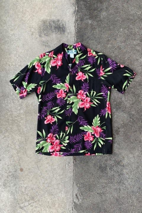 Two Palms Black Orchid Ferns Shirt Black