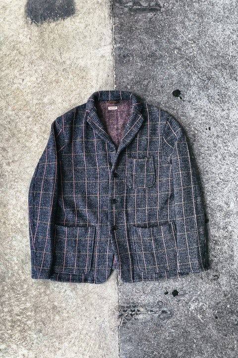 Kapital Tweed Fleecy Knit KOBE Jacket Grey & Pink