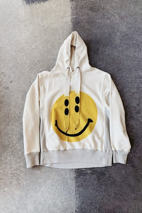 Kapital Fleece Knit RAIN SMILE Hoodie SWT Ecru