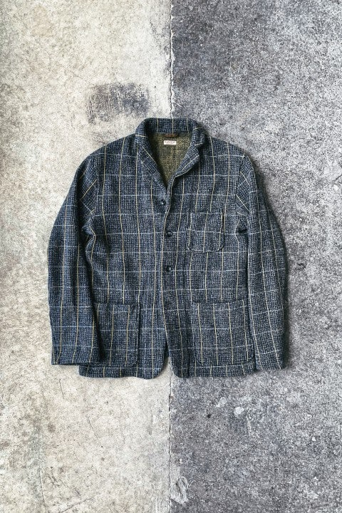 Kapital Tweed Fleecy Knit KOBE Jacket Grey & Yellow