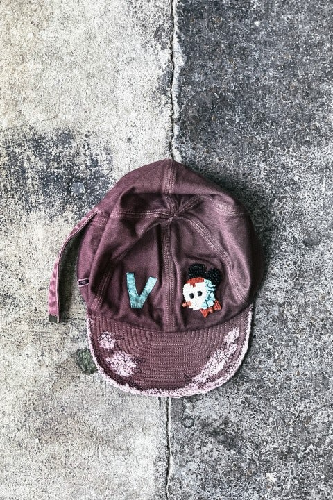 Kapital Cotton KOLA Cap (ZUNI) Burgundy