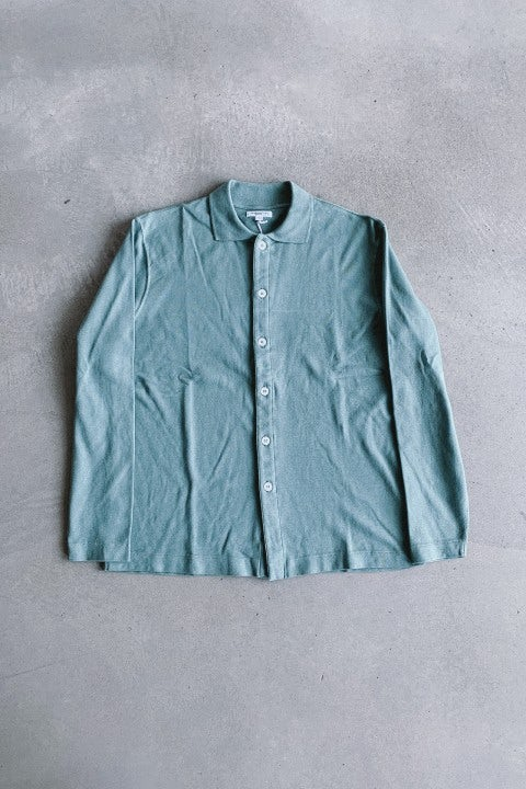 Lady White Co. L/S Placket Polo EZ Sage