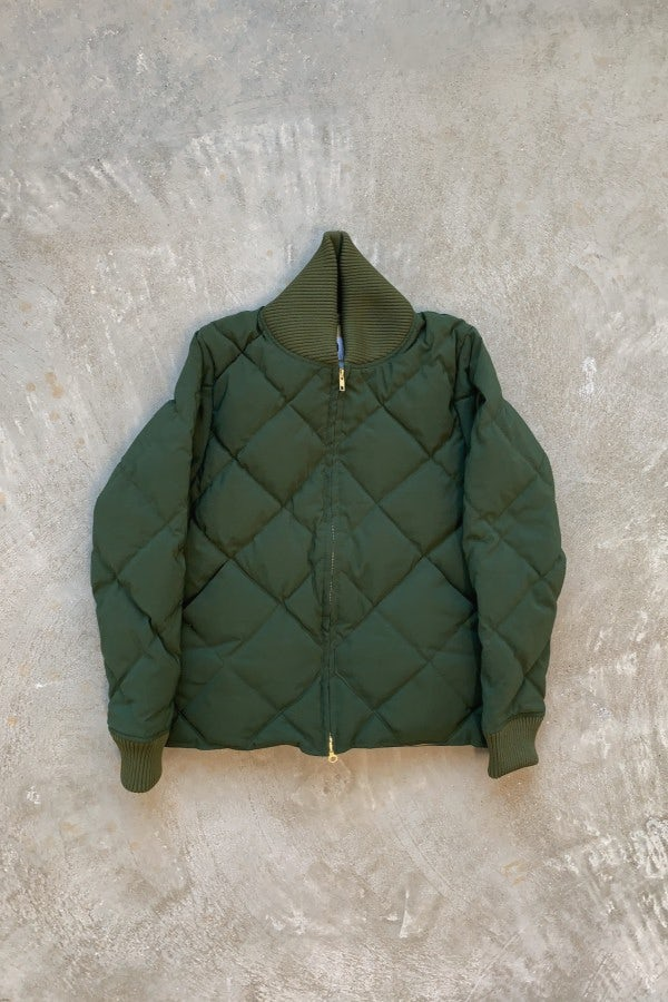 Crescent Down Works Diagonal Quilted Down Cold Weather Bomber Olive/Khaki