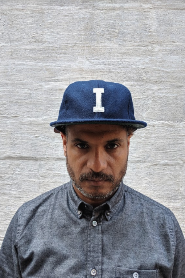 Ebbets Field Flannels Ebbets Field Independence Cap Navy Wool with Red Button