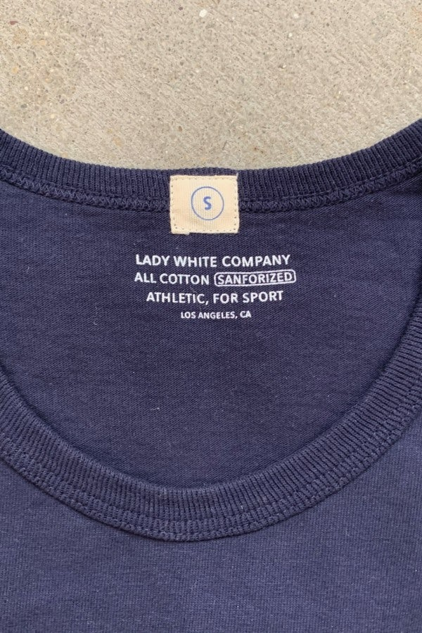 Lady White Co. Two Pack T-Shirts Navy Cotton