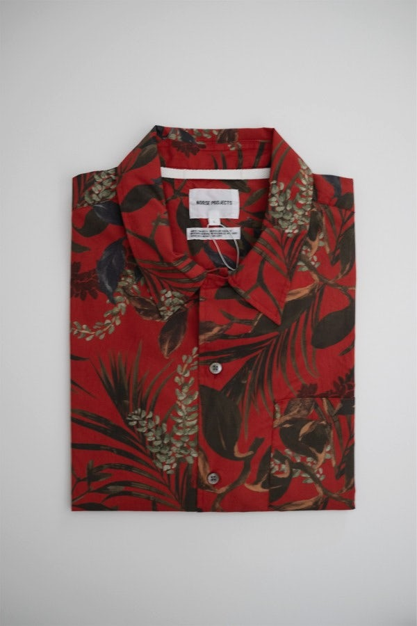 Norse Projects Carsten Print Askja Red